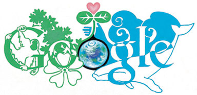 Google Logo: Doodle 4 Google Japan Winner - Our Earth allies