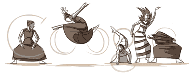 Google Logo: Martha Graham's 117th Birthday - American dancer choreographer.