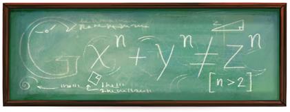 私はこの定理の真に驚くべき証明を発見したが、このホリデーロゴはそれを書くには狭すぎる