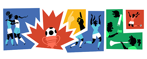 Google Doodle Women's World Cup 2015 Final USA vs Japan