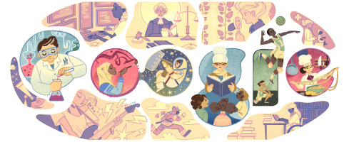 Google's doodle on International Women's Day 2015