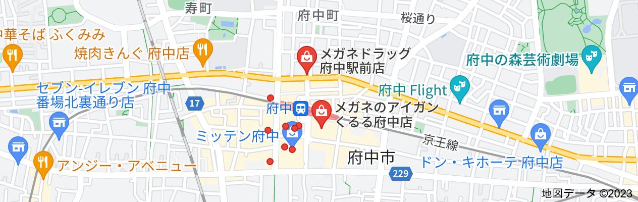 府中眼鏡屋の地図