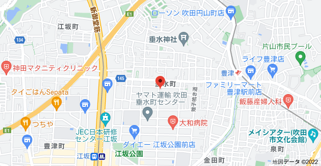 〒564-0062 大阪府吹田市垂水町3丁目6−22の地図