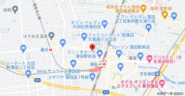 〒144-0051 東京都大田区西蒲田7丁目6−10の地図