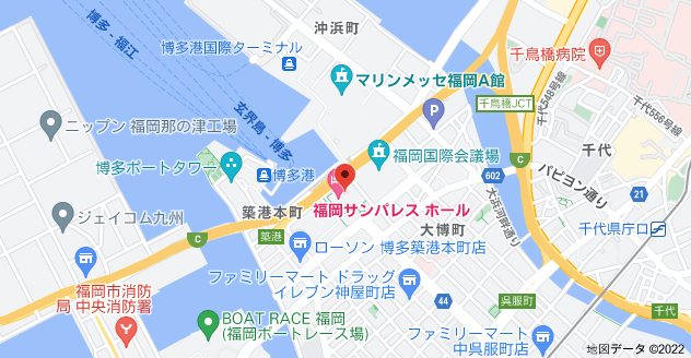 〒812-0021 福岡県福岡市博多区築港本町2−1の地図