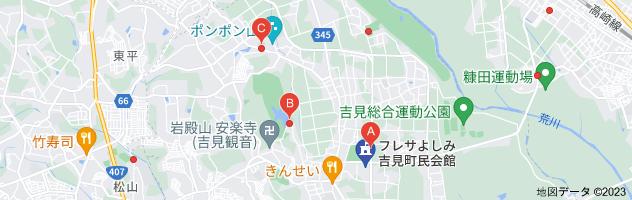 フレサよしみ 駐車場の地図