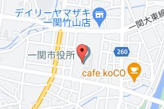 一関市役所の地図