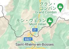 グラン・サン・ベルナール峠の地図