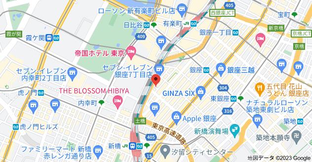 〒104-0061 東京都中央区銀座7丁目2−11の地図