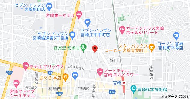 〒880-0812 宮崎県宮崎市高千穂通1丁目9−20の地図