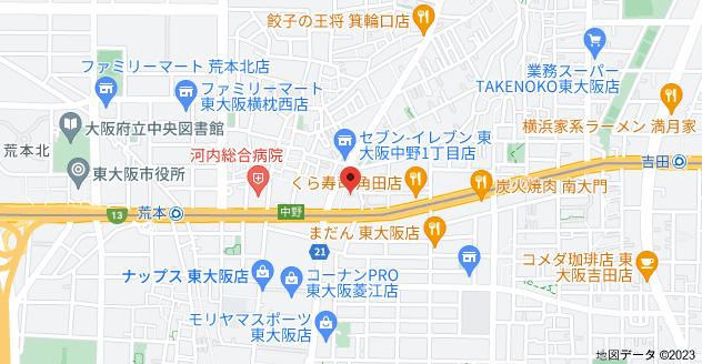 〒578-0912 大阪府東大阪市角田1丁目7−43の地図