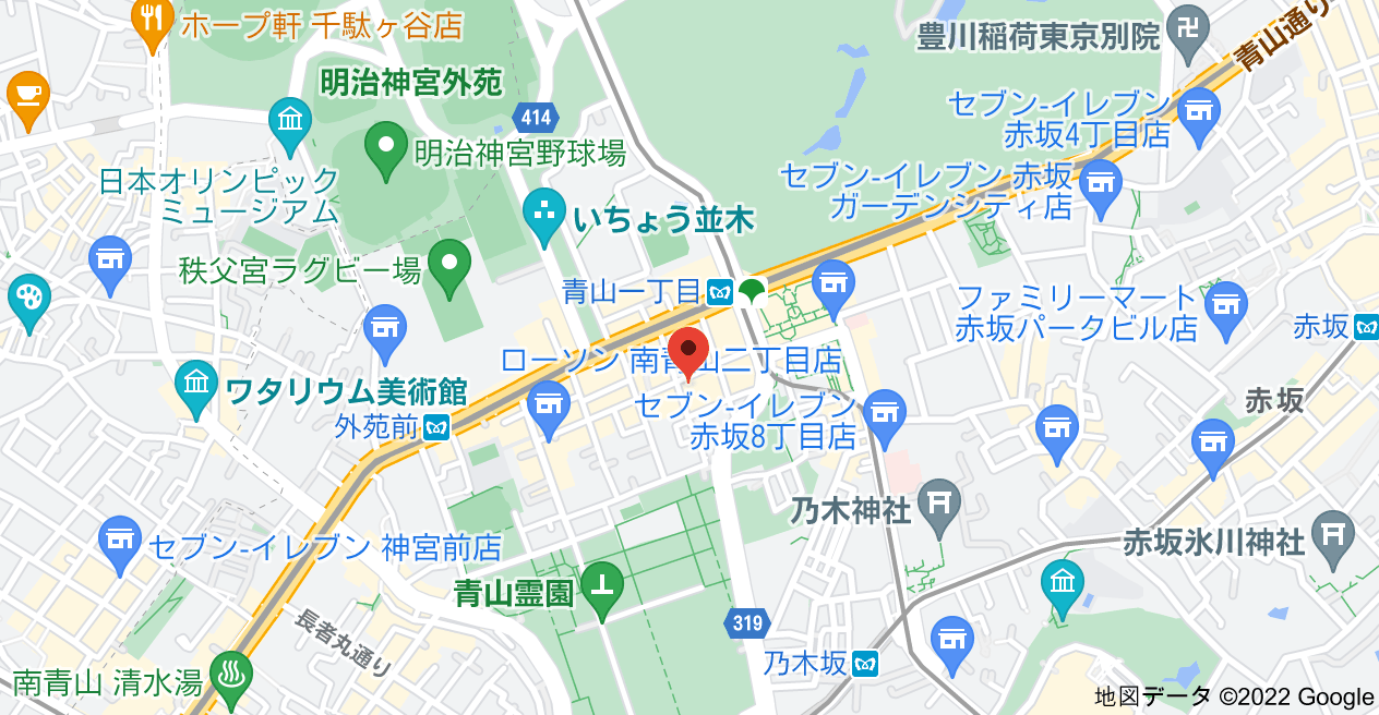 〒107-0062 東京都港区南青山2丁目4−12の地図