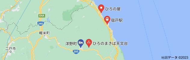 ウニ牧場 洋野町 行き方 場所の地図