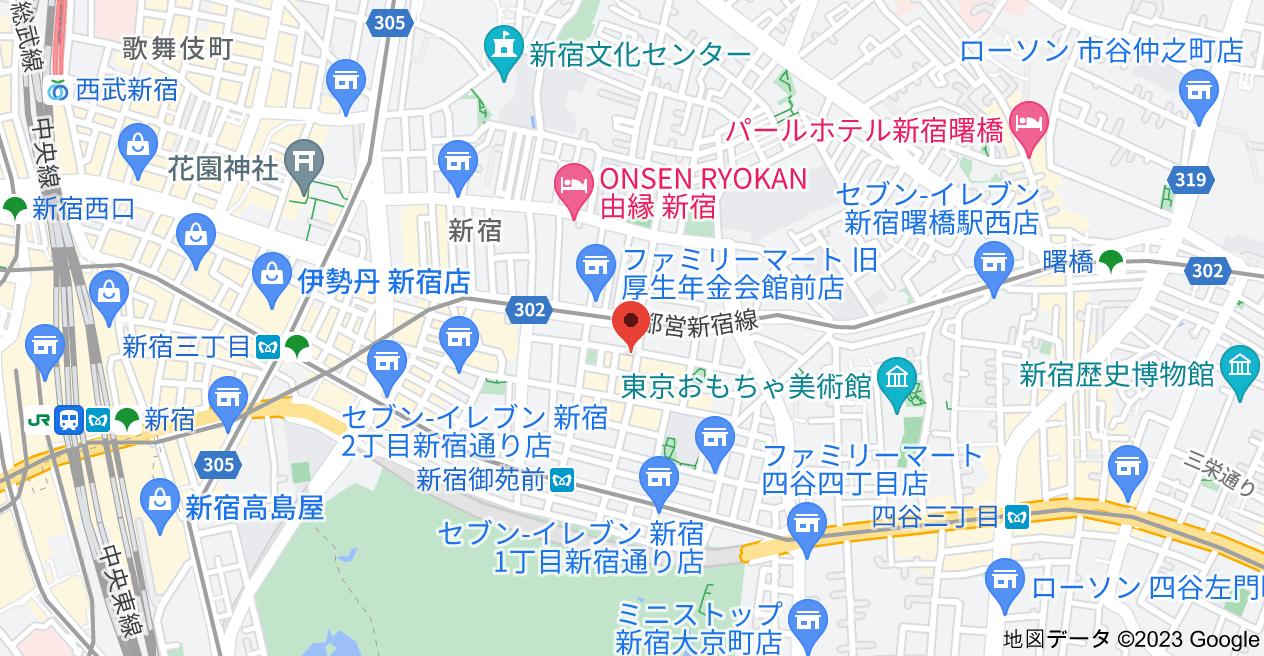 〒160-0022 東京都新宿区新宿1丁目32−15の地図