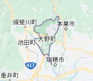 大野町の地図