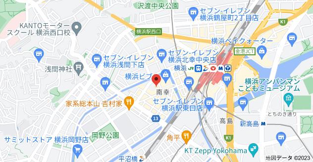 〒220-0005 神奈川県横浜市西区南幸2丁目16−1の地図