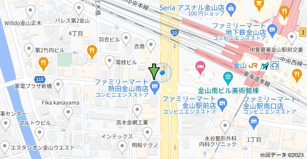 〒460-0024 愛知県名古屋市中区正木4丁目8−12 ブラウザ金山の地図