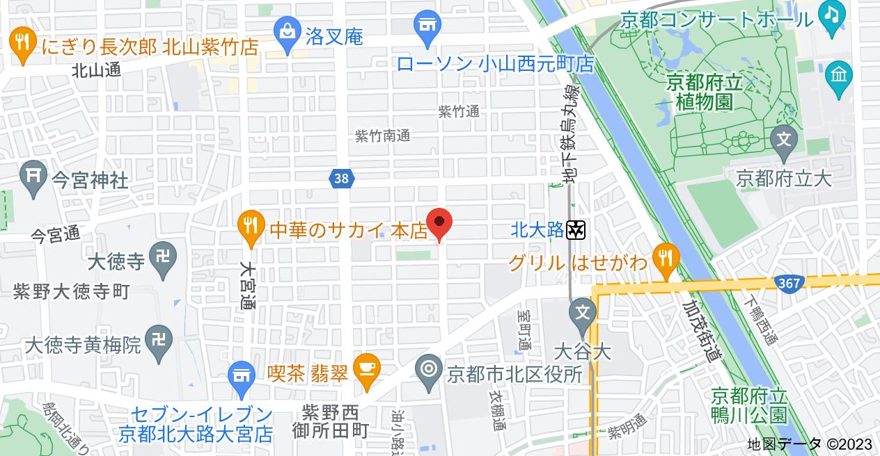 〒603-8173 京都府京都市北区小山下初音町14−4 YOUYOU館の地図