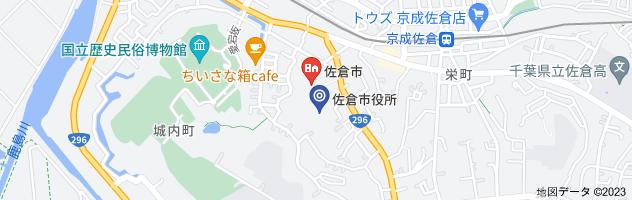 千葉県佐倉市役所の地図