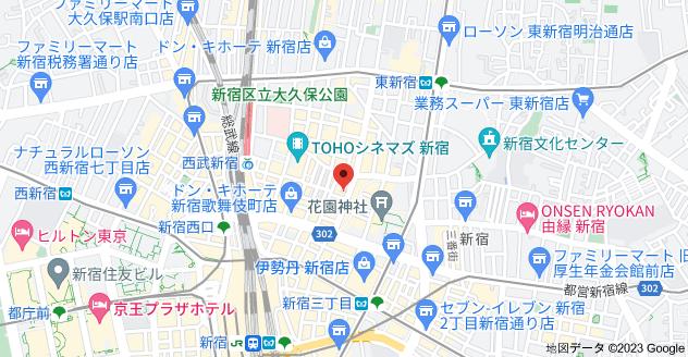 〒160-0021 東京都新宿区歌舞伎町1丁目3−16の地図