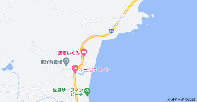 〒781-7414 高知県安芸郡東洋町生見 生見海岸の地図