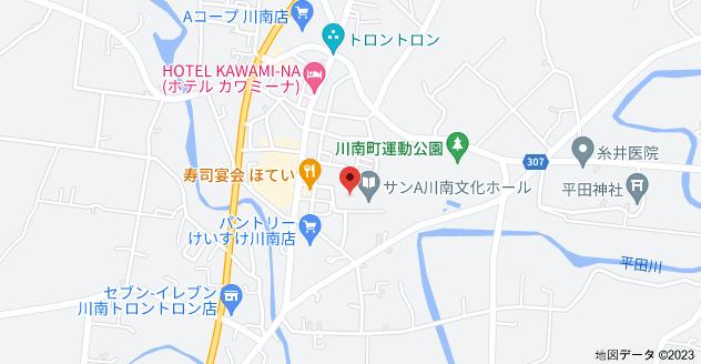 〒889-1302 宮崎県児湯郡川南町平田2386−3の地図