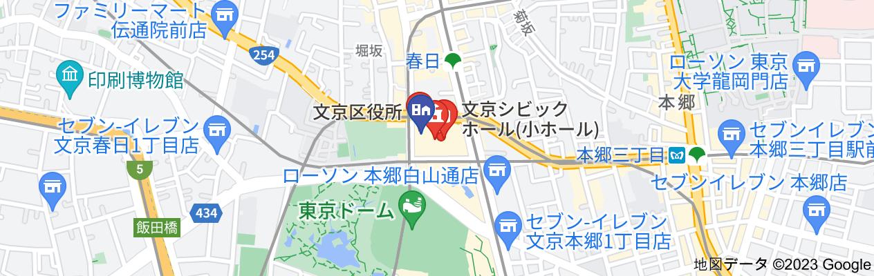 文京シビックセンター地図の地図