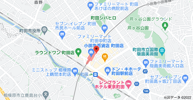 〒194-0013 東京都町田市原町田6丁目11−7の地図