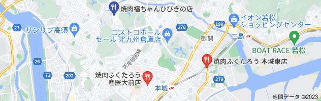焼肉福ちゃん 藤原の地図
