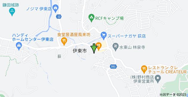 〒414-0053 静岡県伊東市荻597−6の地図