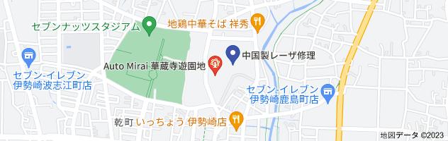 華蔵寺公園の地図