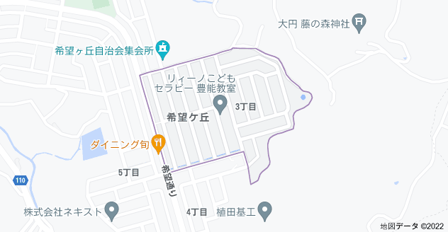 〒563-0214 大阪府豊能郡豊能町希望ケ丘3丁目の地図