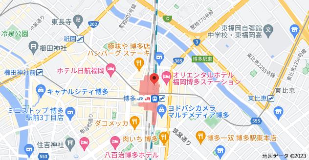 〒812-0012 福岡県福岡市博多区博多駅中央街1−1の地図