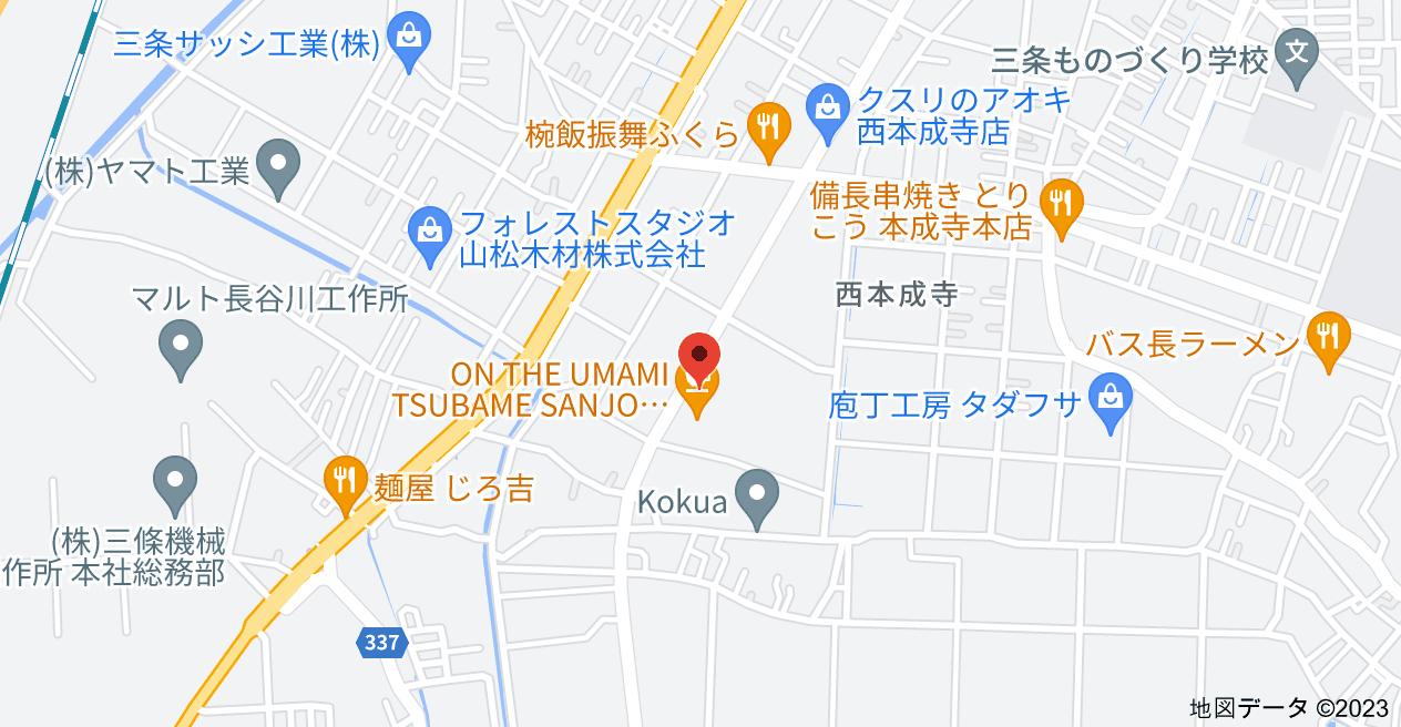 〒955-0845 新潟県三条市西本成寺2丁目24−26の地図